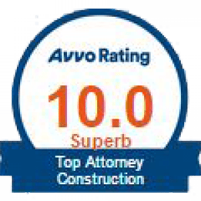 Top Attorney Construction Avvo Rating 10.0 Superb