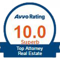 Top Attorney Real Estate Avvo Rating 10.0 Superb