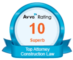 Avvo rating 10 superb Top Attorney Construction Law