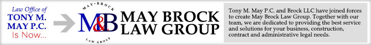 Tony M. May P.C. is now May Brock Law Group. Tony M. May P.C. and Brock LLC have joined forces to create May Brock Law Group. 
